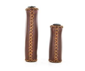 Poignées VELO (simili-cuir marron) paire