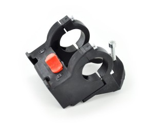 panier pliable tissus rouge + fix 25.4 / 31.8 / env 15l