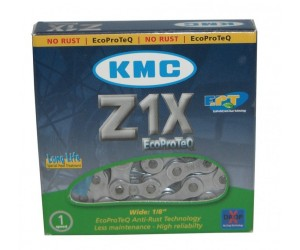 CHAINE KMC Z1X EPT ECO PROTEQ ANTICOR 1/2 X 1/8 112 MAILLONS 8.6MM