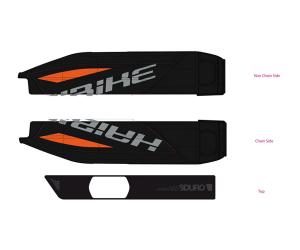 Déco batterie SDURO Orange, rouge, anthracite & gris