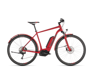 CROSS HYBRID PRO Allroad 500Wh red'n'grey Cadre Homme