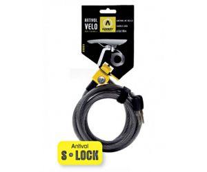 Antivol AUVARY De Selle S-LOCK Spirale D.12  185CM - 2 Cles