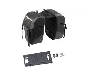 Sacoche double XLC carry more noir/anthracite porte-bagages syst. XLC