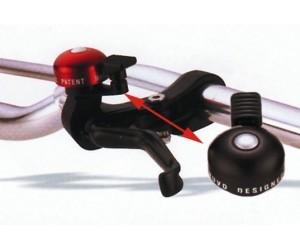 mini sonnette montage  levier de frein. aluminium noir