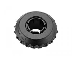 Sonnette de vélo rotative XLCDD-M17 noir, diamètre 53mm