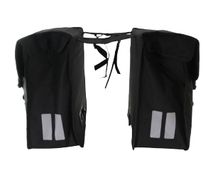 Sacoche Double Mara XXL noir, 18x35x36cm, 47 litres