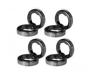 SB3 Kit de lock on pour grips - Argent