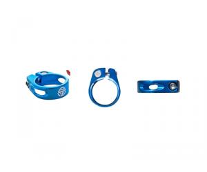 SB3 Collier de serrage de selle à vis Bleu - 31.6