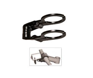 support éclairage Herrmans Dualnoir, serrage cintre Ø 31,8mm