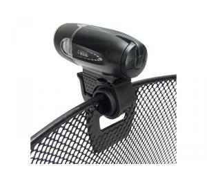 panier AV Klickfix uni noir35x26x25cm, mailles serrées + clip écl.