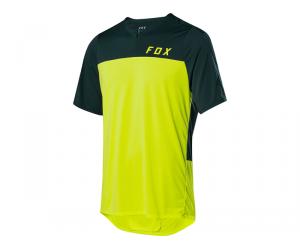 Maillot FOX Flexair Zip - Jaune