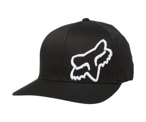 casquette fox noir/logo blanc flex45 s/Mflexfit hat