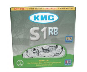 Chaîne KMC S-1RB anti-corrosion 1/2 x 1/8, 112 maillons, 8,6 mm, argent